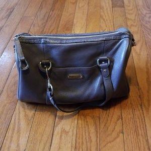 Authentic Gray Coach Leather Handbag